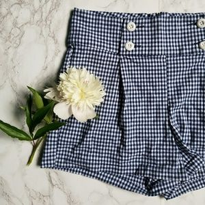 Delia's high waisted checkered shorts